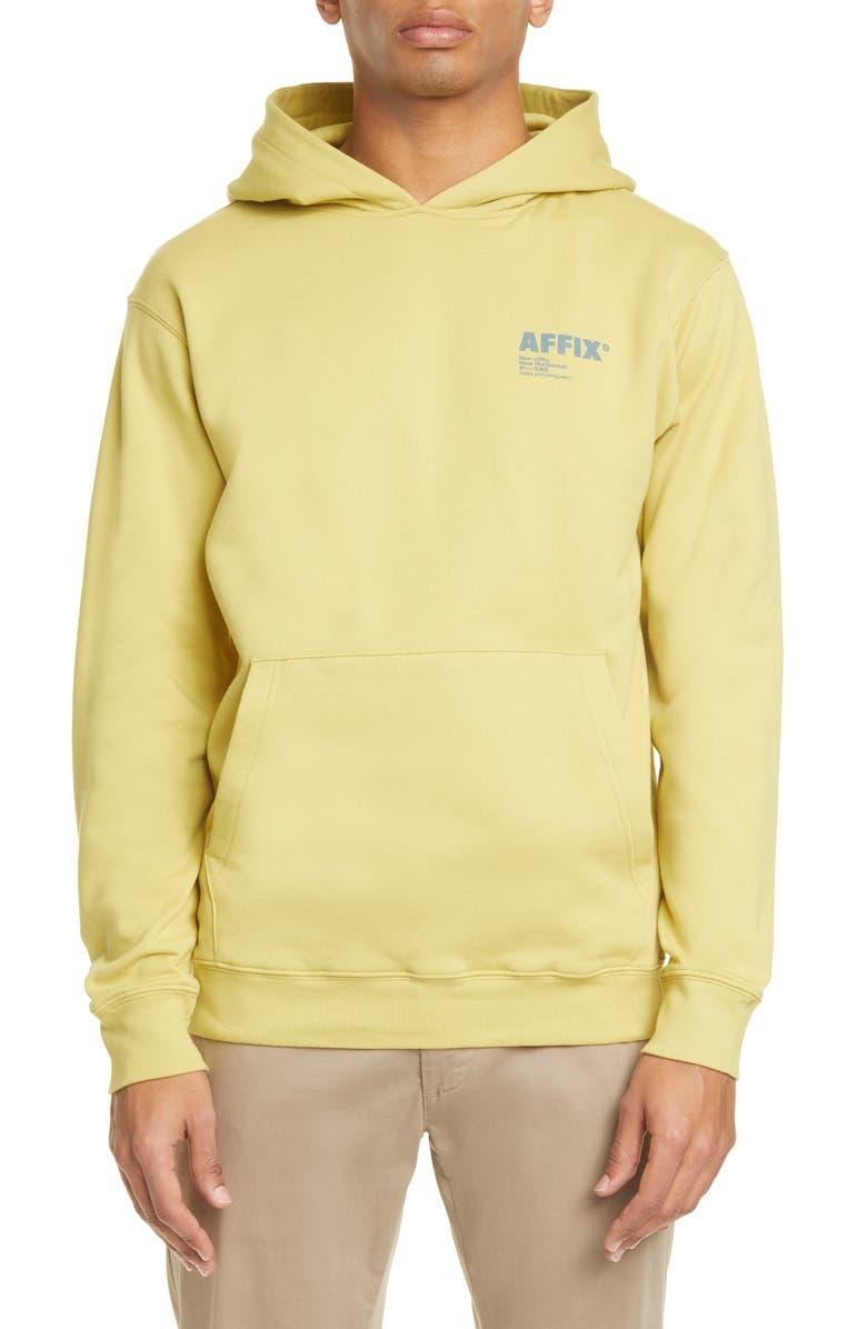 AFFIX Logo Print Cotton Hoodie, Main, color, 700