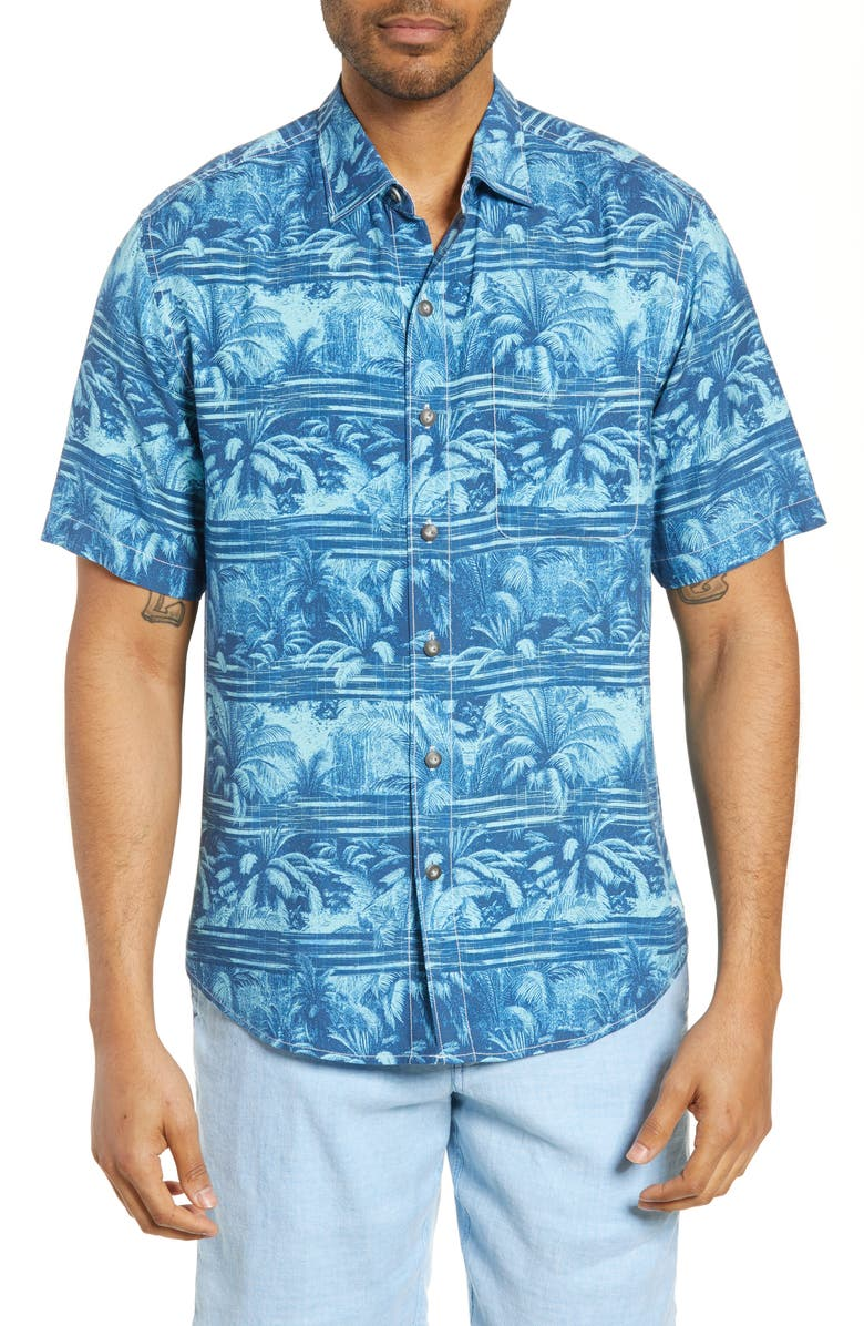 Tommy Bahama Primo Palms Classic Fit Short Sleeve Button Up Shirt