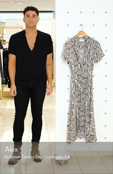 Clarkson Snake Print Silk Midi Dress, sales video thumbnail