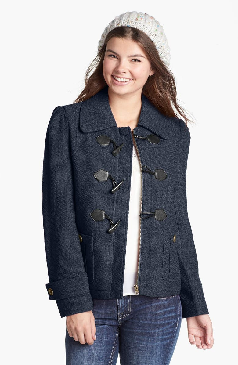 TULLE Front Toggle Textured Coat, Main, color, 412