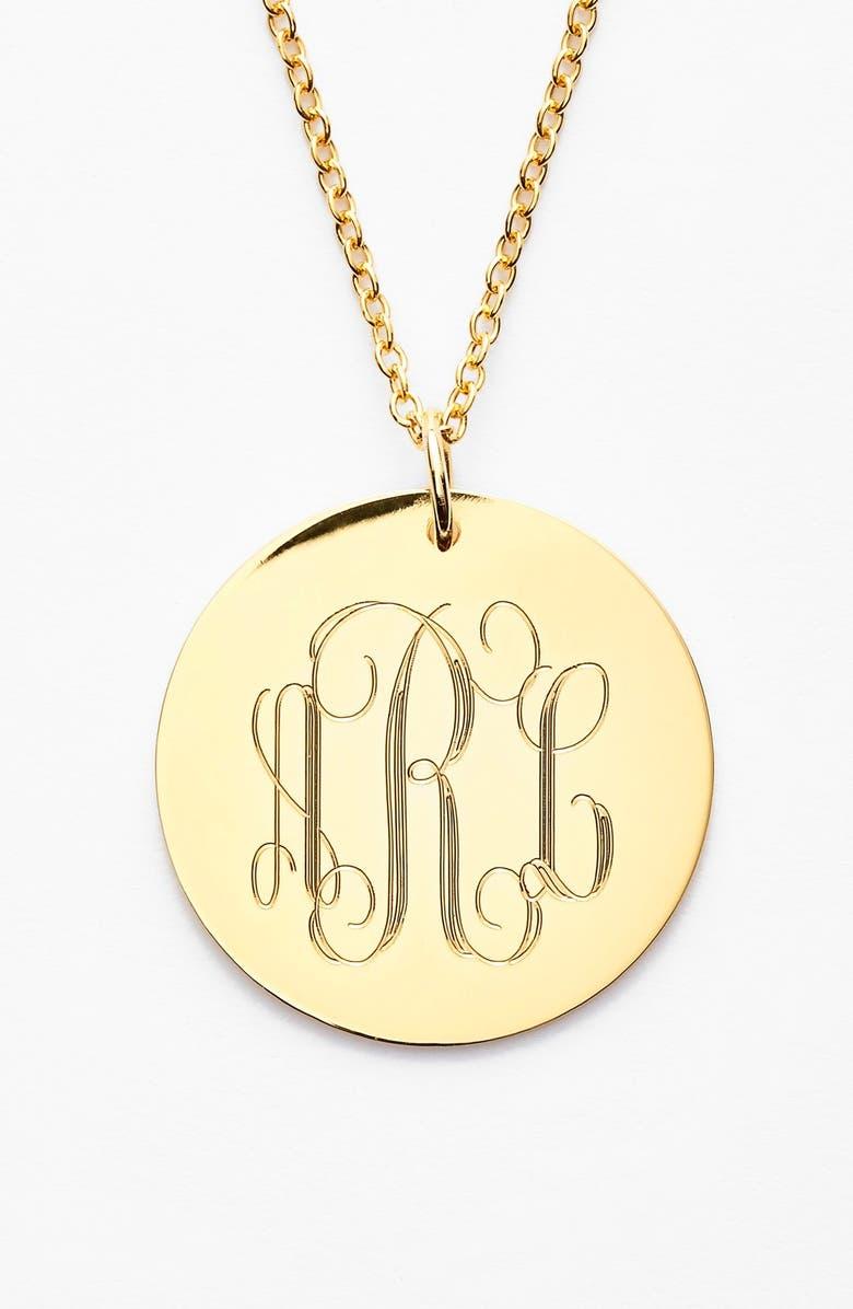 JANE BASCH DESIGNS Personalized Reversible Pendant Necklace, Main, color, GOLD
