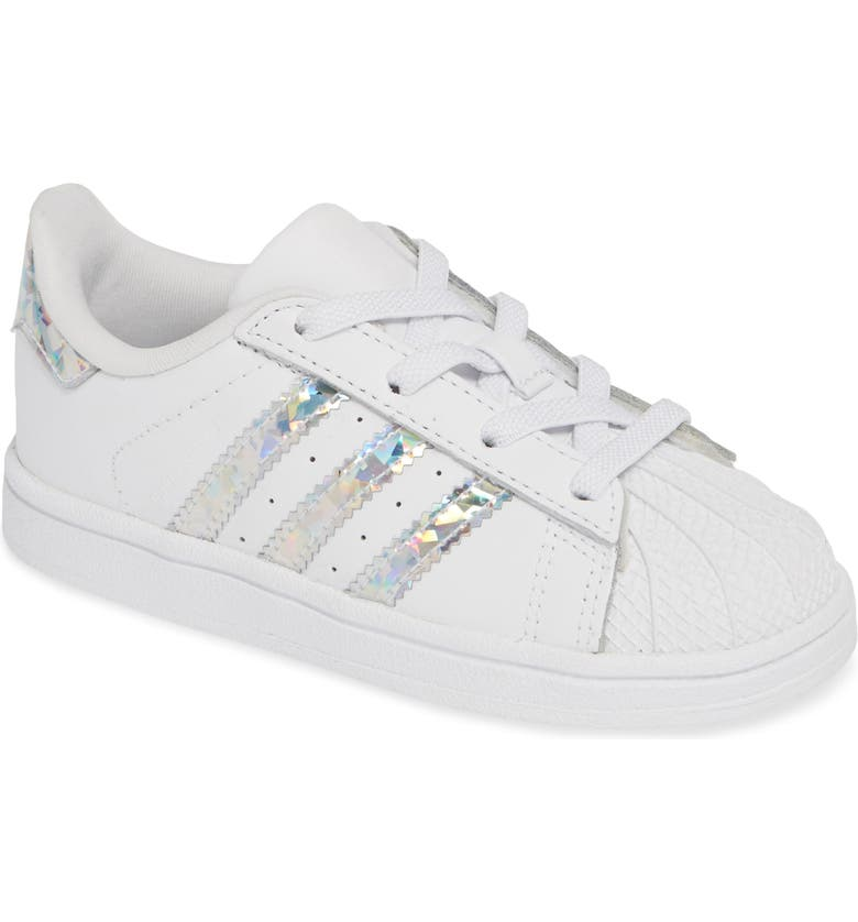 ADIDAS Superstar Metallic Sneaker, Main, color, WHITE/ WHITE/ WHITE