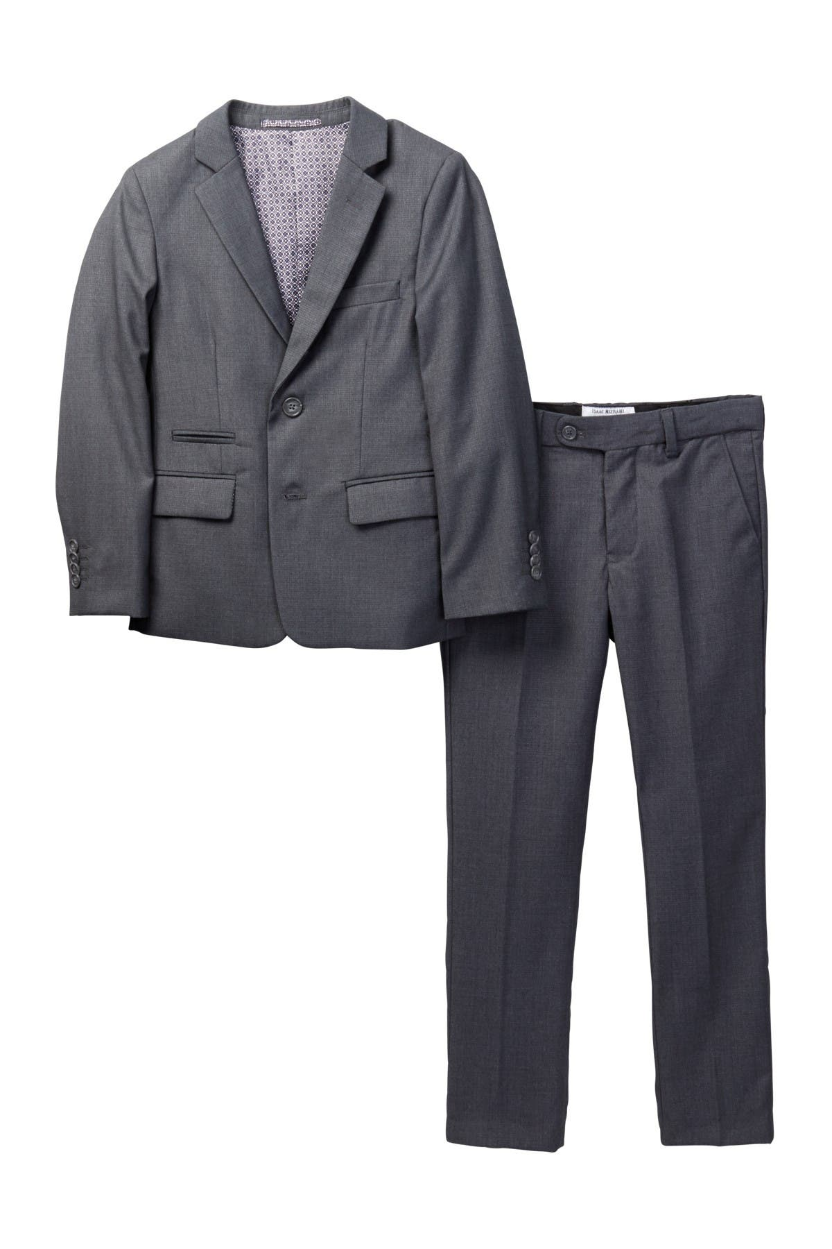Image of Isaac Mizrahi Slim Fit Micro Gingham 2-Piece Suit