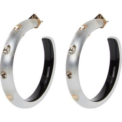 Alexis Bittar Future Antiquity Crystal Studded Slim Hoop Earrings