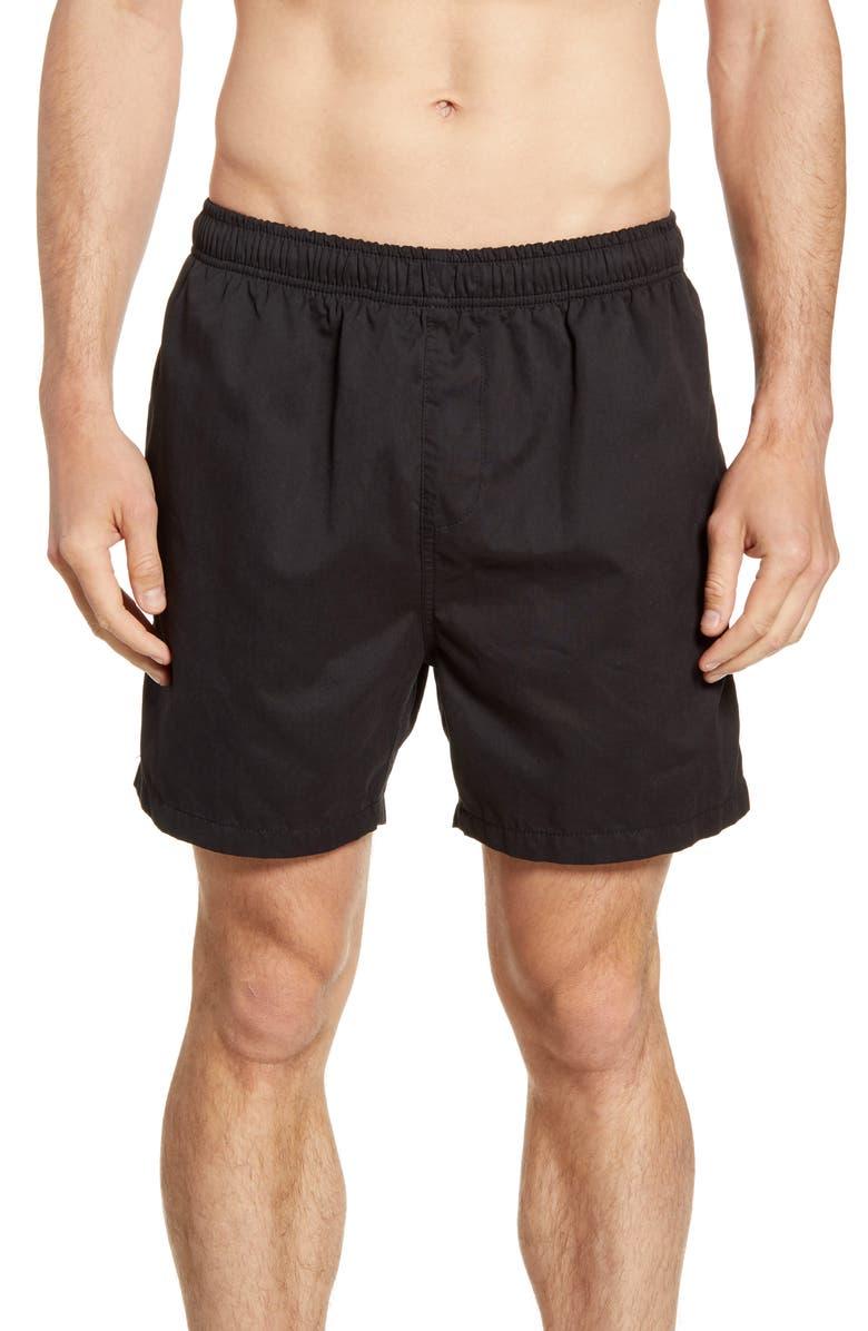 VINTAGE SUMMER Suede Hybrid Walking Shorts, Main, color, 001