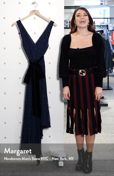 Aiden Asymmetrical Chiffon Midi Dress, sales video thumbnail