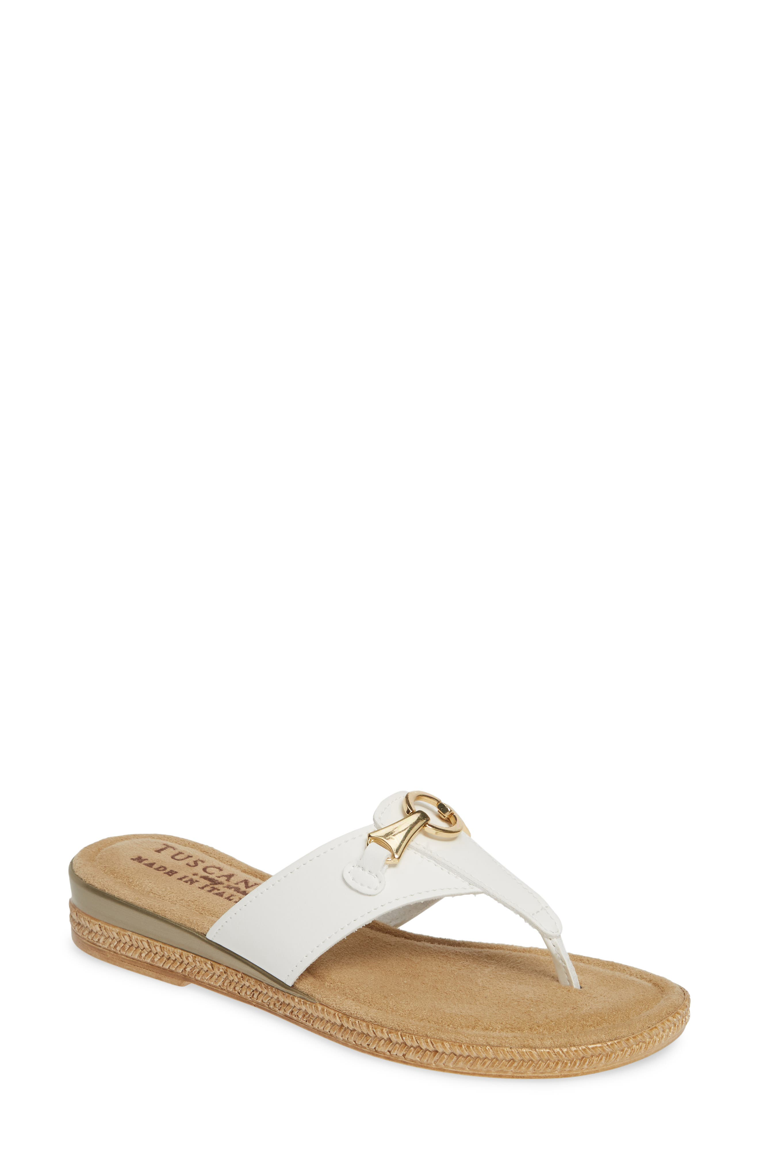 Tuscany By Easy Street Farah Flip Flop, White