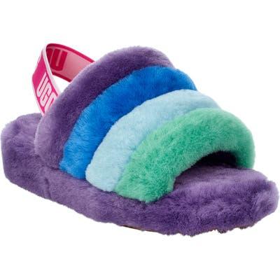 UGG Fluff Yeah Pride Genuine Shearling Slipper, Purple