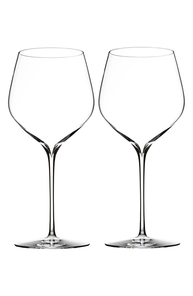 WATERFORD 'Elegance' Fine Crystal Cabernet Sauvignon Glasses, Main, color, CLEAR