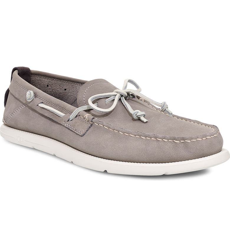 UGG<SUP>®</SUP> Beach Moc Boat Shoe, Main, color, SEAL GREY