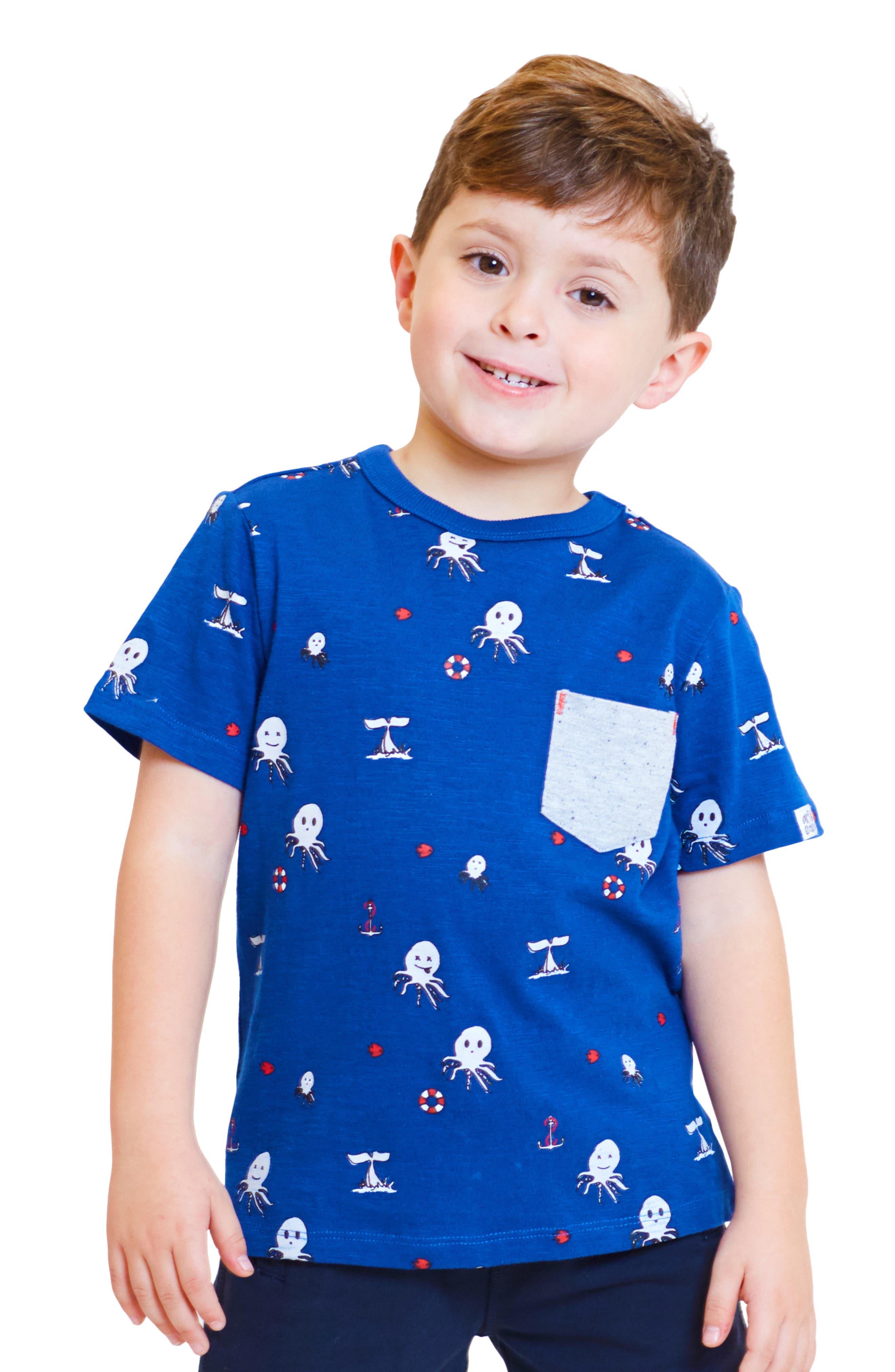 ,                             Lucas Octopus Print T-Shirt,                             Alternate thumbnail 2, color,                             OCTOPUS PRINT