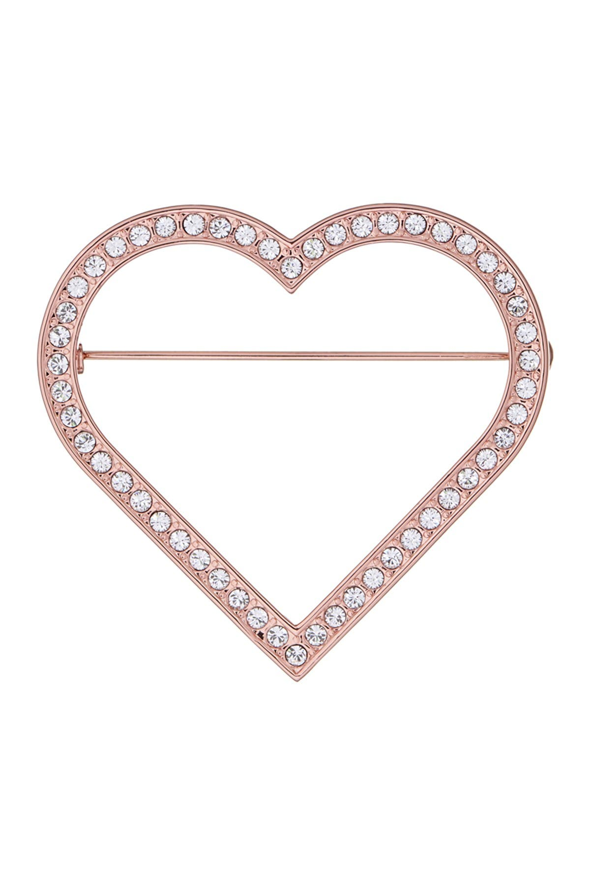 Image of Ted Baker London Rose Gold Plated Estrada Enchanted Heart Brooch
