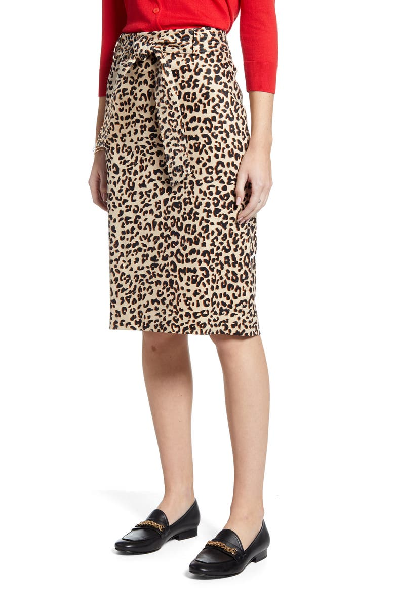 1901 Twill Pencil Skirt, Main, color, 270