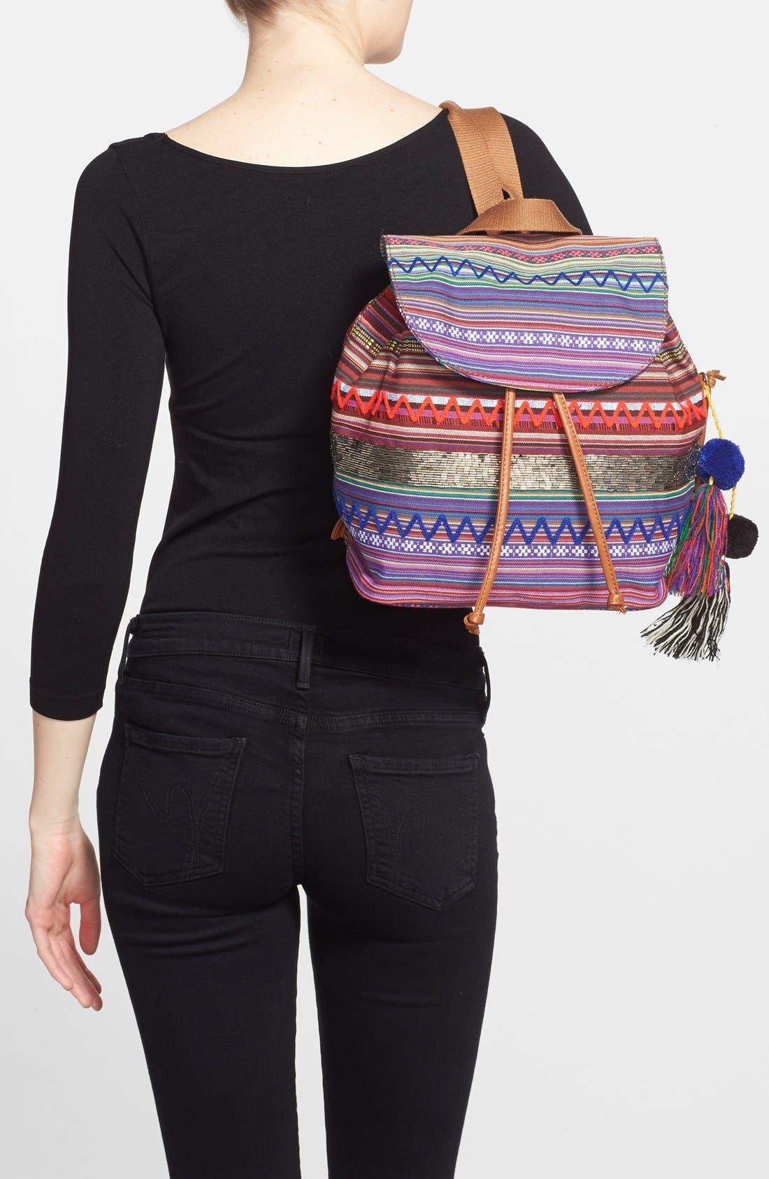 ,                             'Bella' Woven Backpack,                             Alternate thumbnail 12, color,                             650