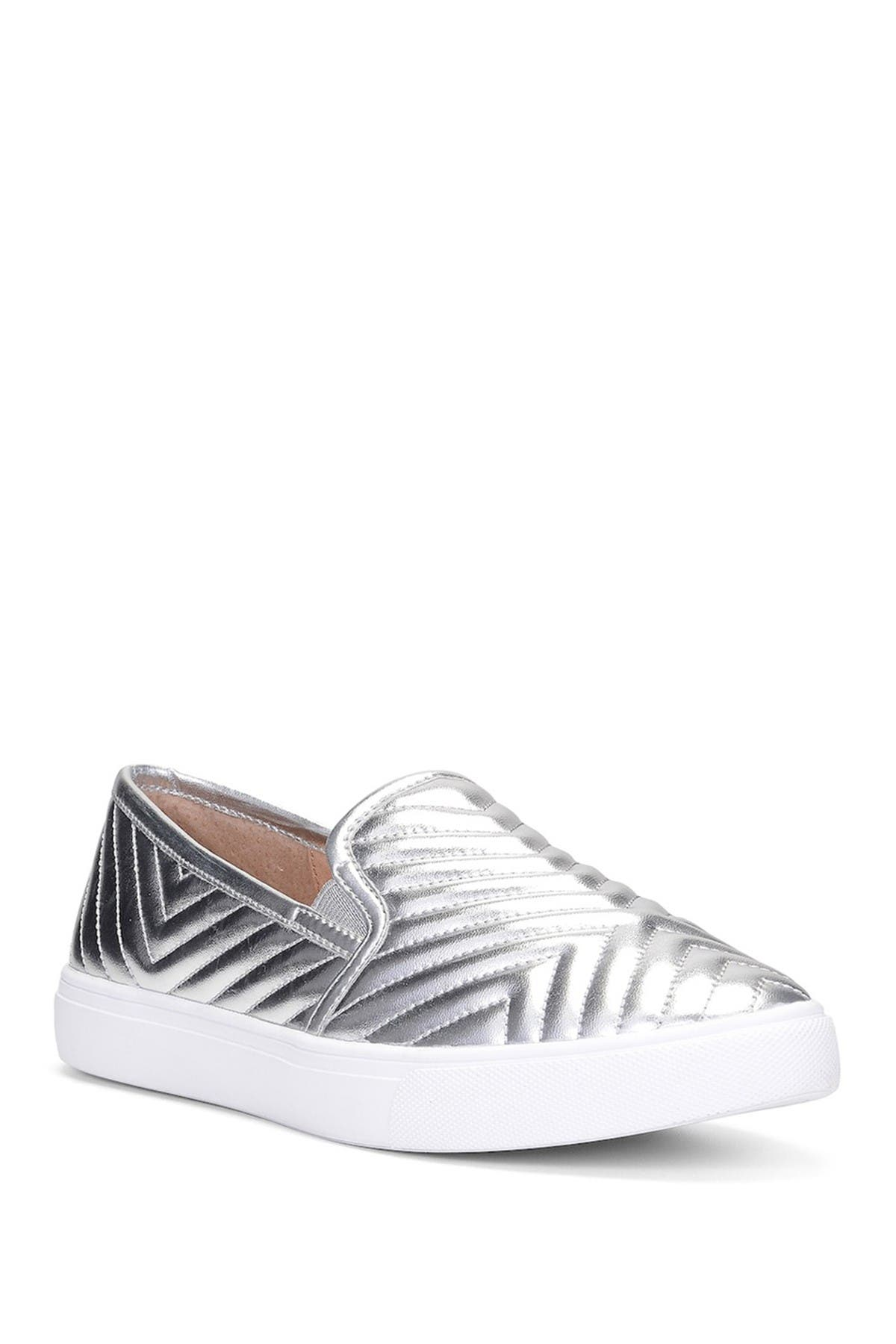 Image of Donald Pliner Pammy Metallic Quilted Slip-On Sneaker