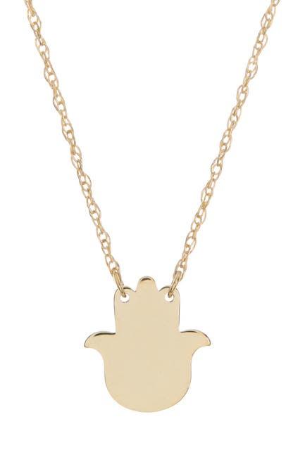 Image of Candela 10K Yellow Gold Hamsa Pendant Necklace