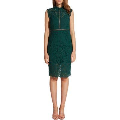 Bardot Lace Sheath Dress, Green