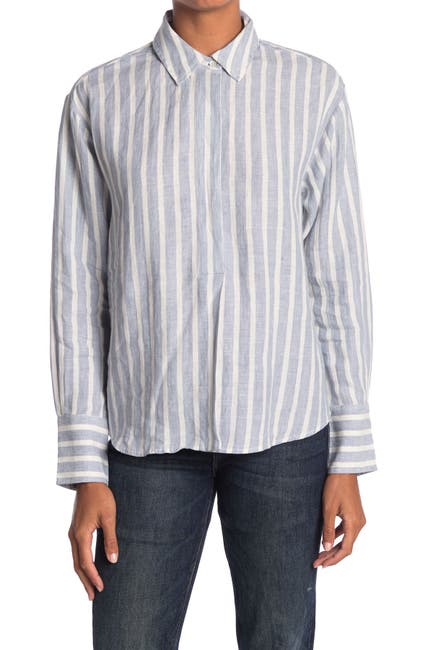 Image of FRAME Tie Up Button Front Shirt