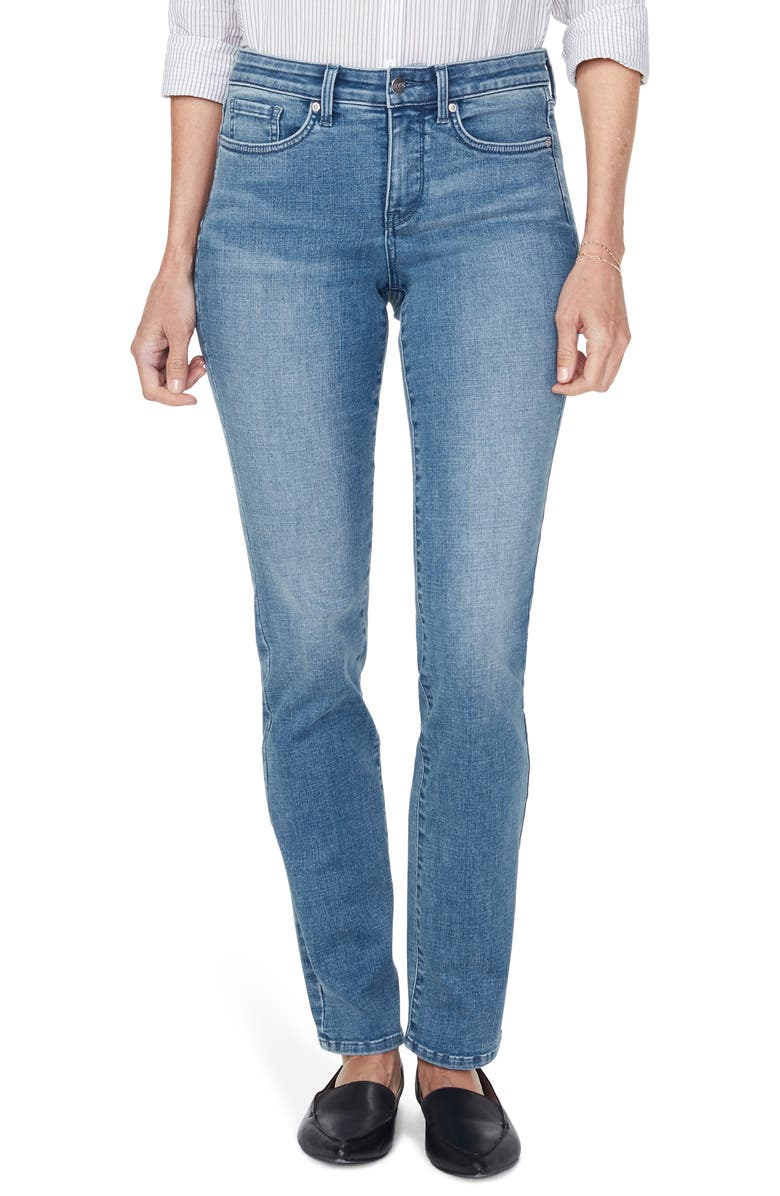 NYDJ Sheri Slim Straight Leg Jeans, Main, color, BRICKELL