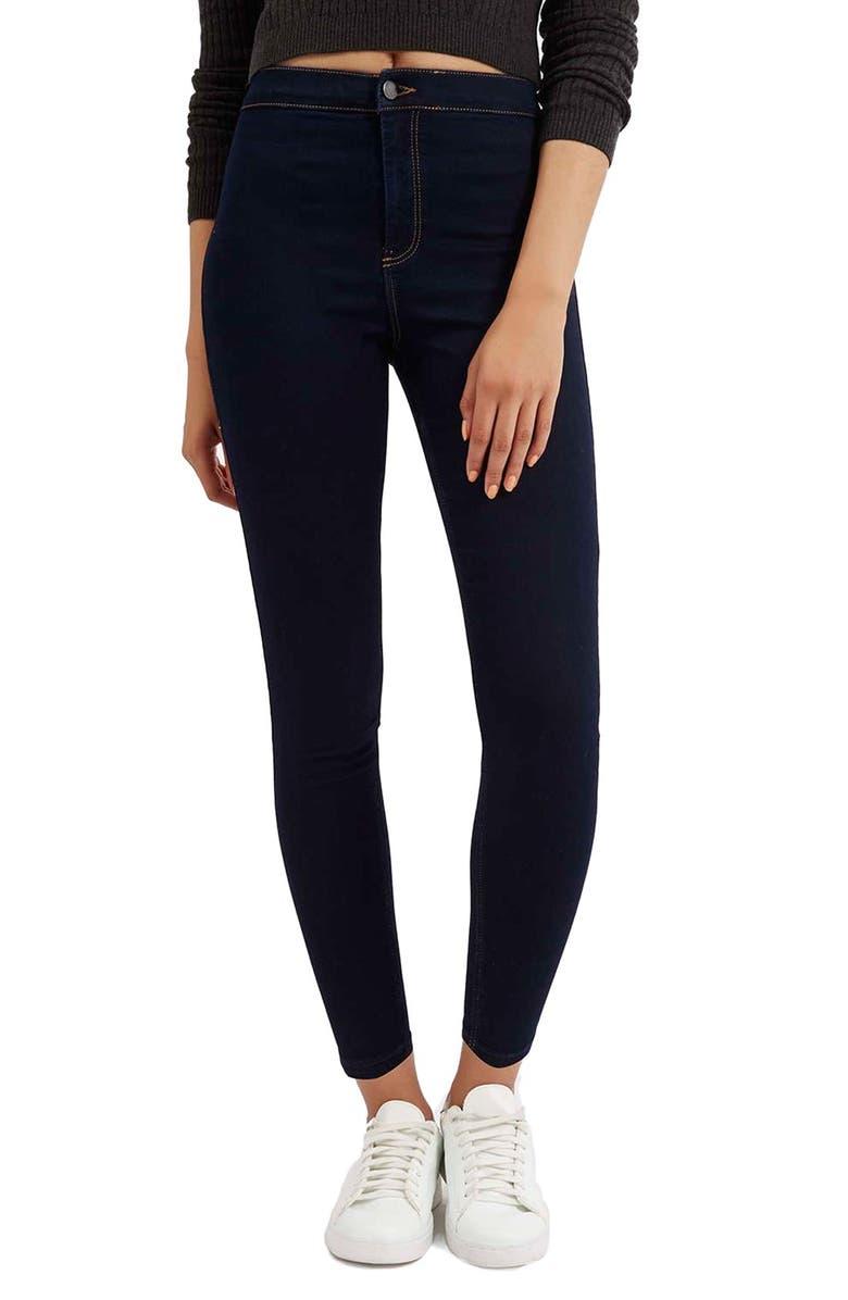 TOPSHOP Moto 'Joni' High Rise Skinny Jeans, Main, color, 400