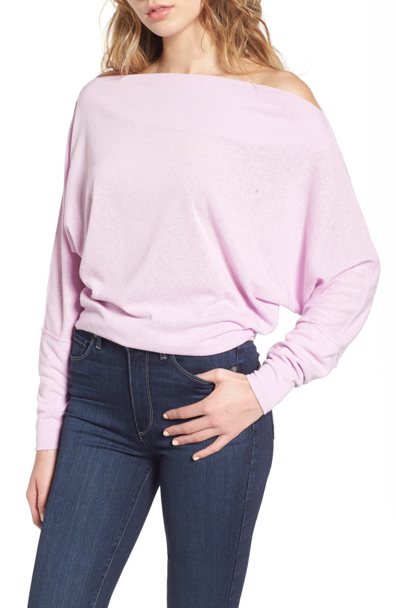 FREE PEOPLE Valencia Off the Shoulder Pullover, Main, color, 530