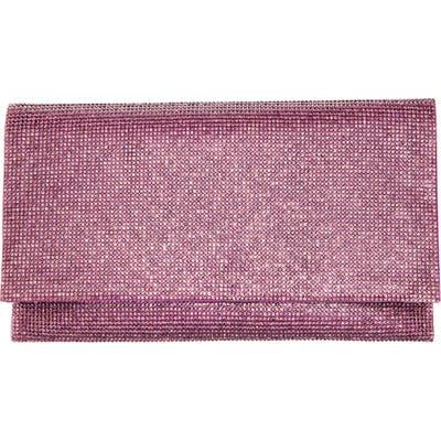 Nina Crystal Clutch - Purple