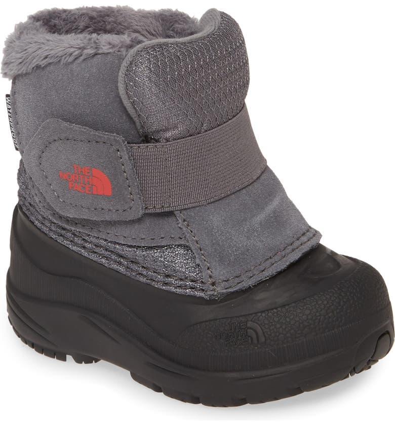 THE NORTH FACE Alpenglow II Waterproof Insulated Boot, Main, color, BLACK/ ZINC GREY