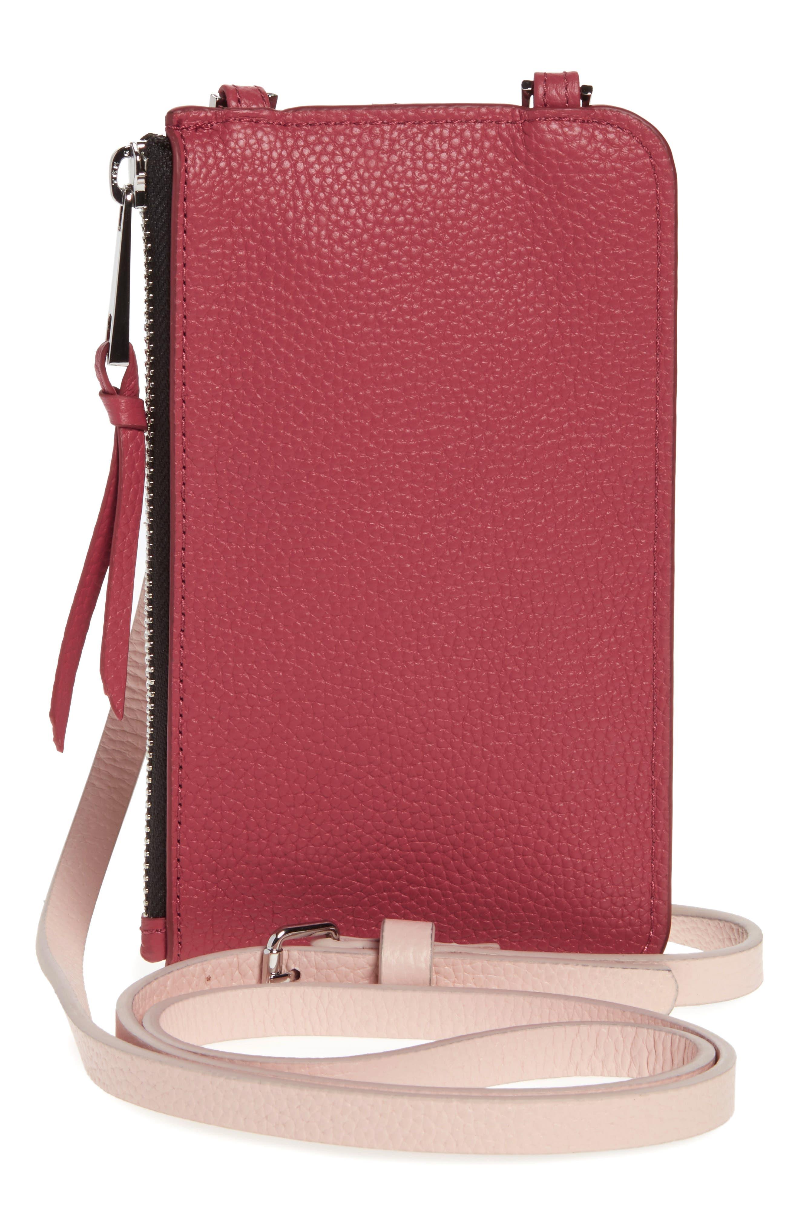 ,                             Emma Leather iPhone 7/8 & 7/8 Plus Crossbody Case,                             Alternate thumbnail 5, color,                             PINK/ MAUVE