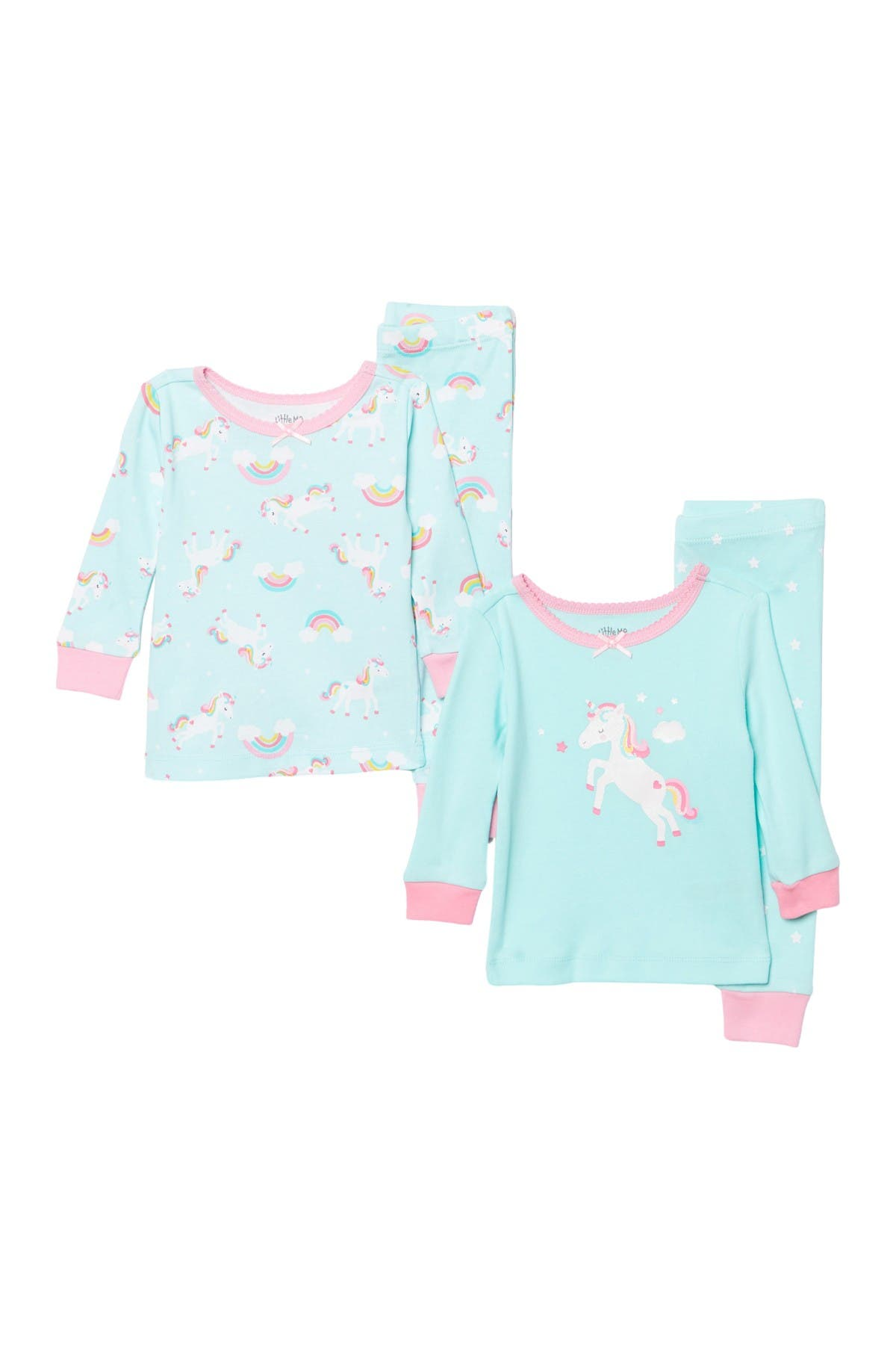 Image of Little Me Unicorn 4 Piece Pajama Set