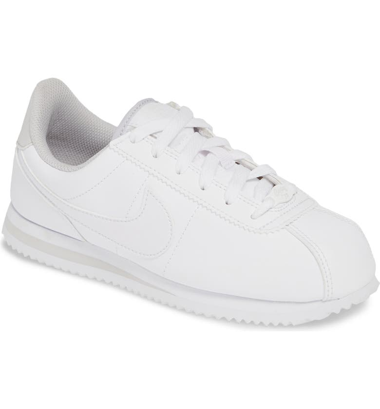 NIKE Cortez Basic SL Sneaker, Main, color, WHITE/ WHITE-VAST GREY