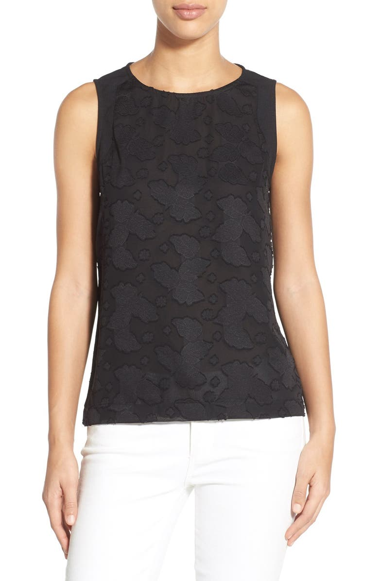 GIBSON Embossed Front Sleeveless Top, Main, color, 001