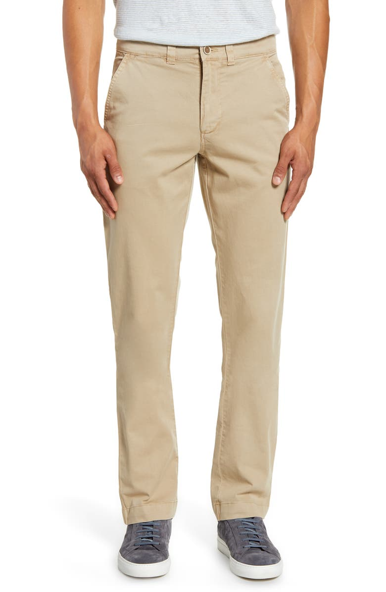VINTAGE 1946 Sunny Modern Fit Stretch Twill Chinos, Main, color, KHAKI