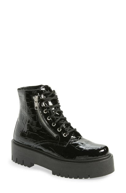 Topshop BRIGHT CHUNKY ZIP BOOT