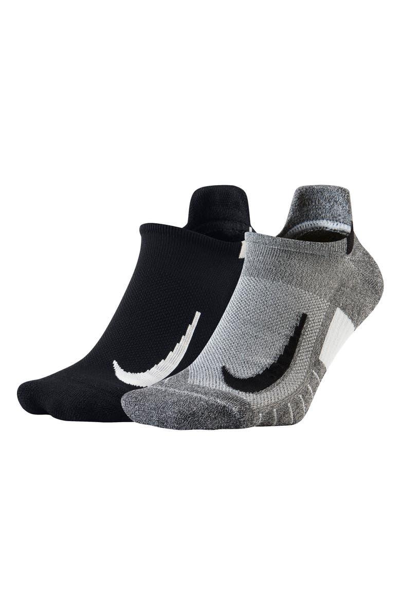 NIKE Multiplier 2-Pack No-Show Running Socks, Main, color, 001