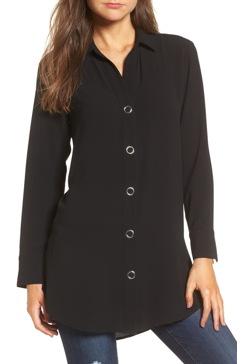 LEITH Snap Front Tunic, Main, color, 001