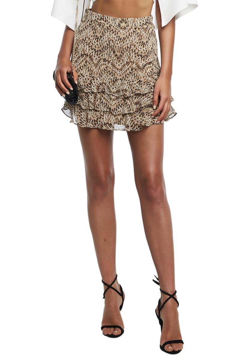 Rah Rah Tiered Ruffle Miniskirt by Bardot