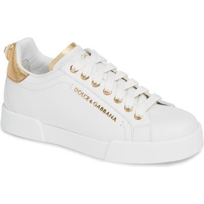 Dolce & gabbana Portofino Embellished Sneaker - White
