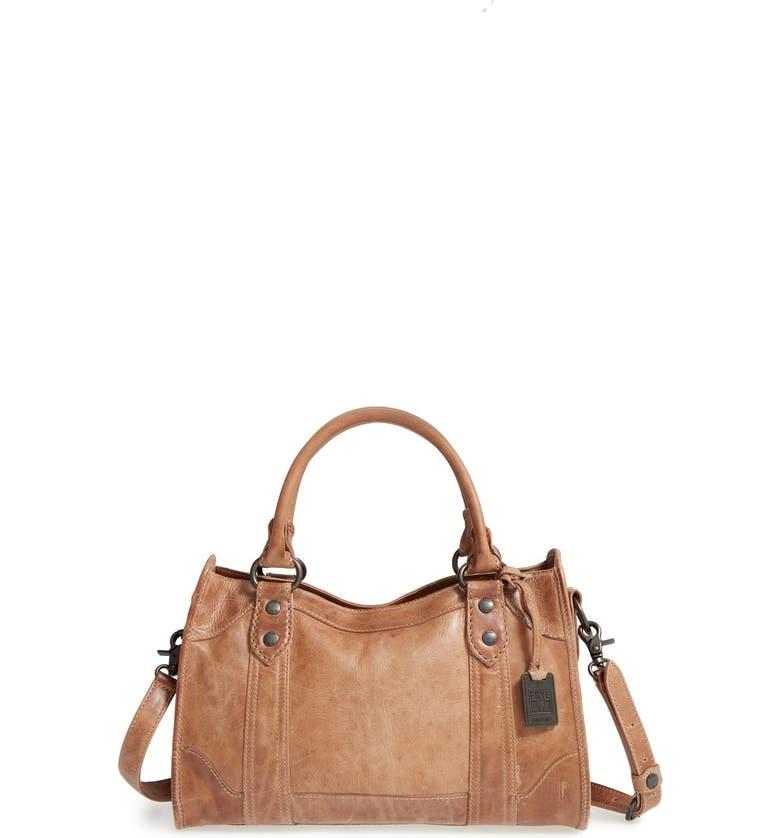 FRYE 'Melissa' Washed Leather Satchel, Main, color, BEIGE