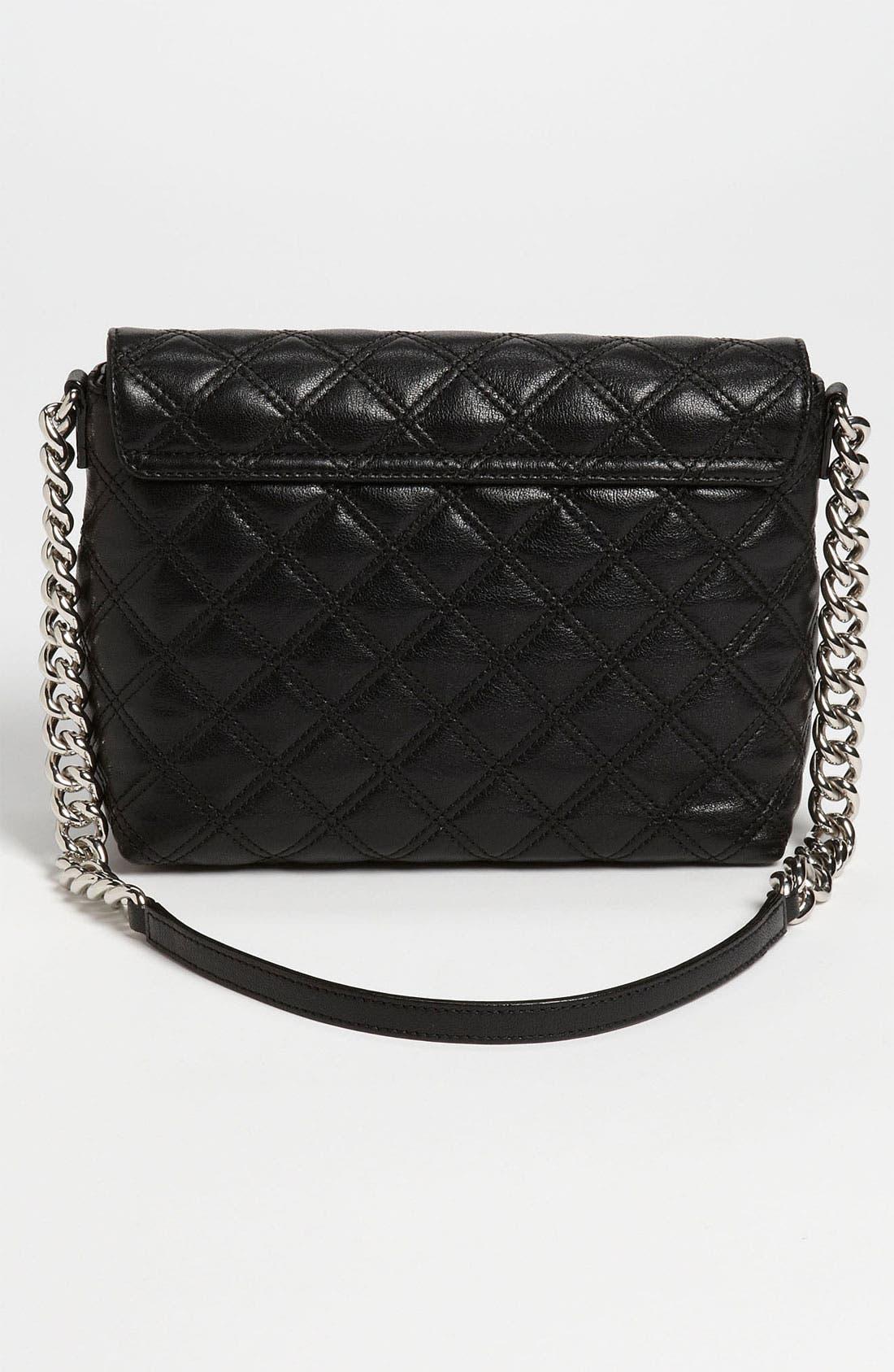 ,                             'Large Quilting Single' Leather Shoulder Bag,                             Alternate thumbnail 8, color,                             003