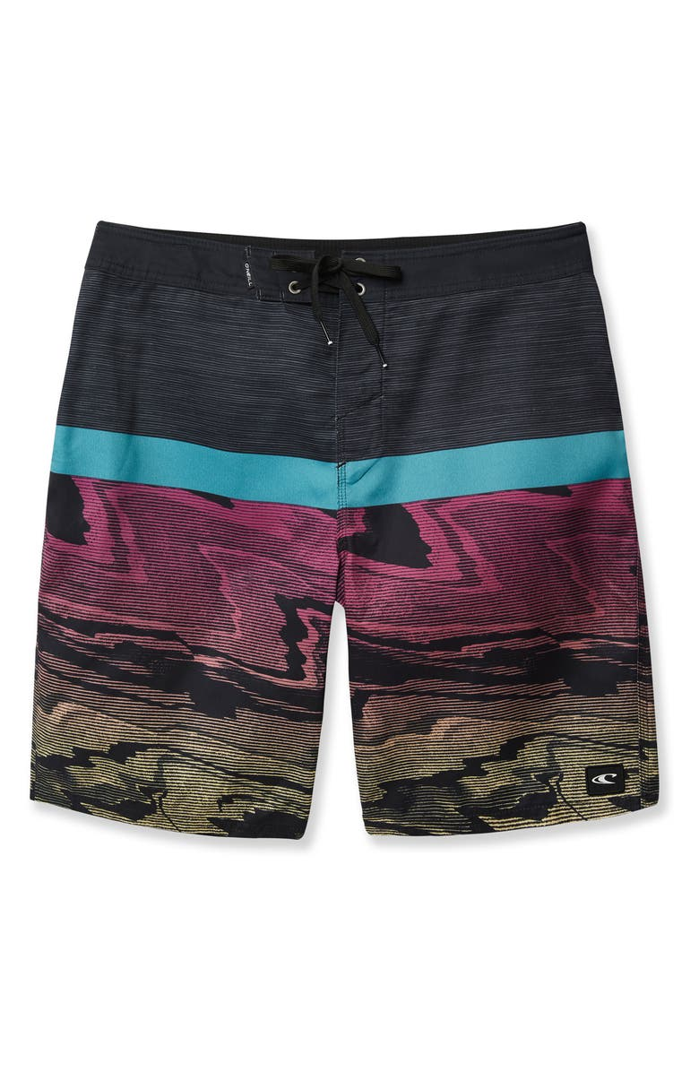 O'NEILL Glitch Board Shorts, Main, color, BLACK