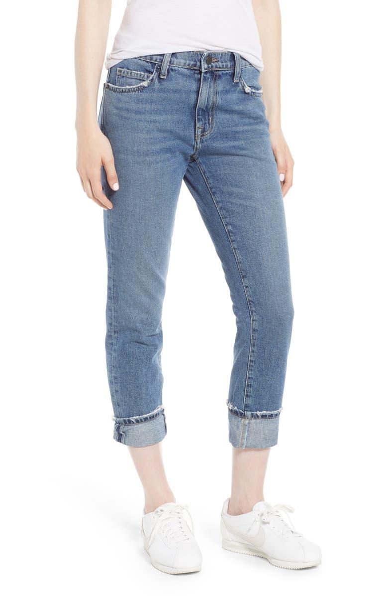 CURRENT/ELLIOTT The Fling Cuff Boyfriend Jeans, Main, color, 450