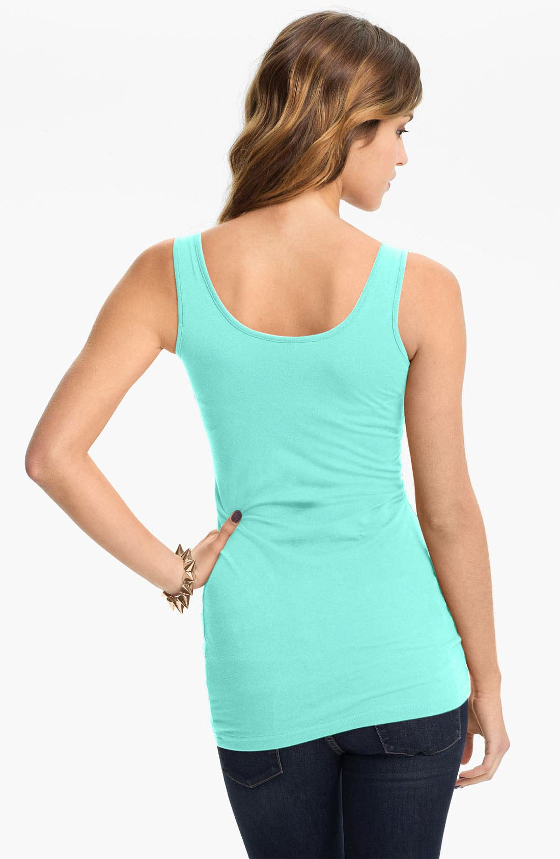 ,                             Double Scoop Neck Tank,                             Alternate thumbnail 127, color,                             318