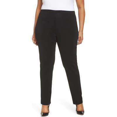 Plus Size Ming Wang Pull-On Pants, Black