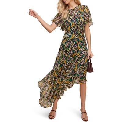 Astr The Label Floral Print Dress, Black