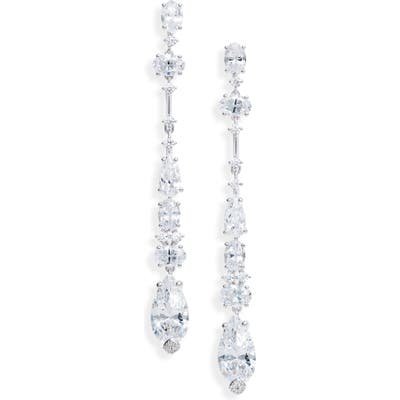 Nadri Everlasting Linear Crystal Earrings