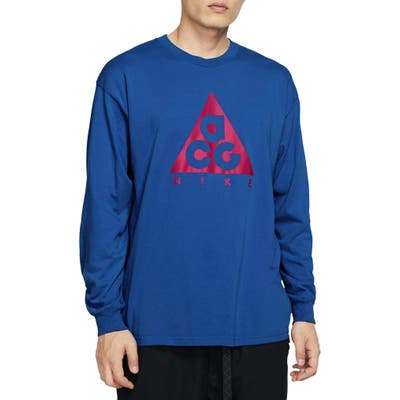 Nike Nrg All Conditions Gear Logo T-Shirt, Blue