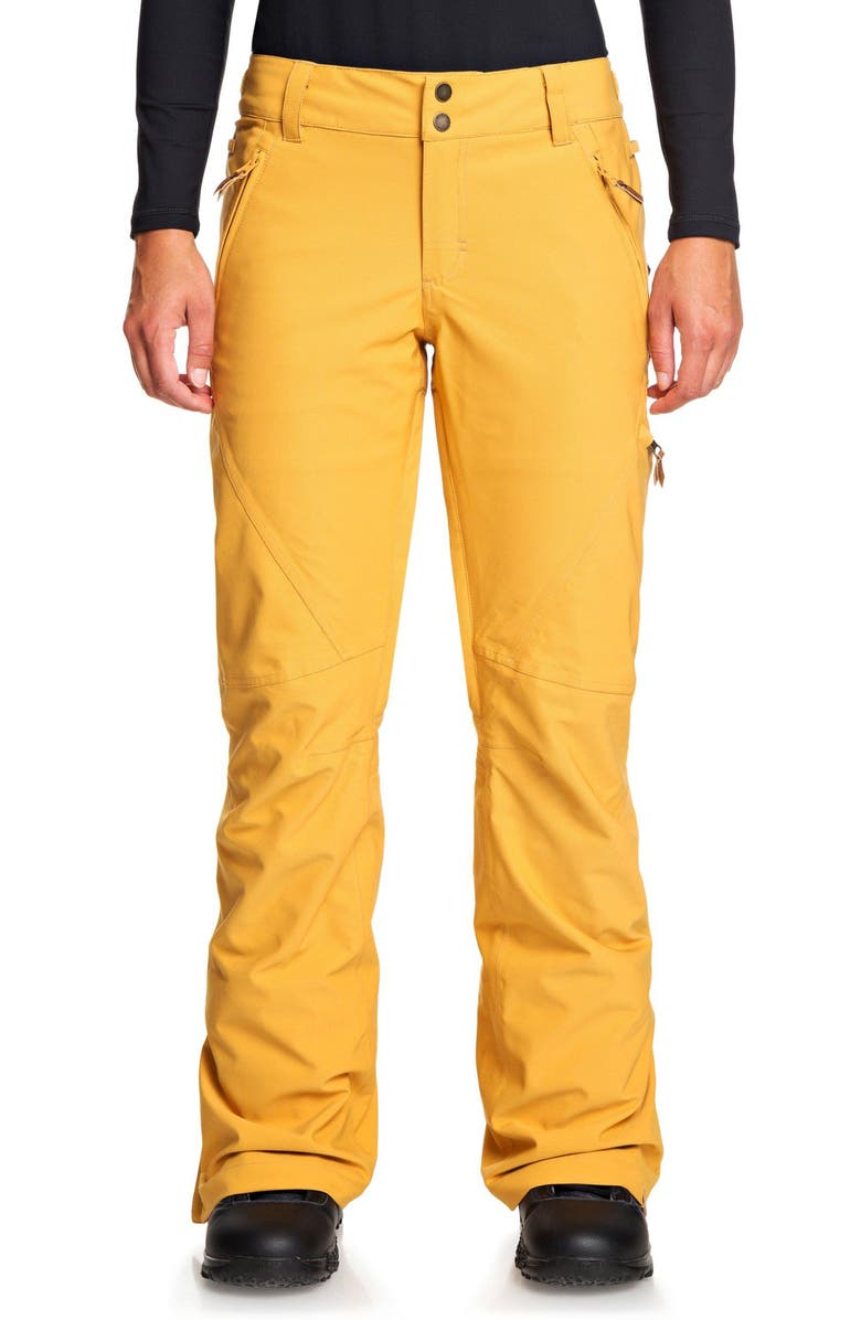 ROXY Cabin Snow Pants, Main, color, SPRUCE YELLOW