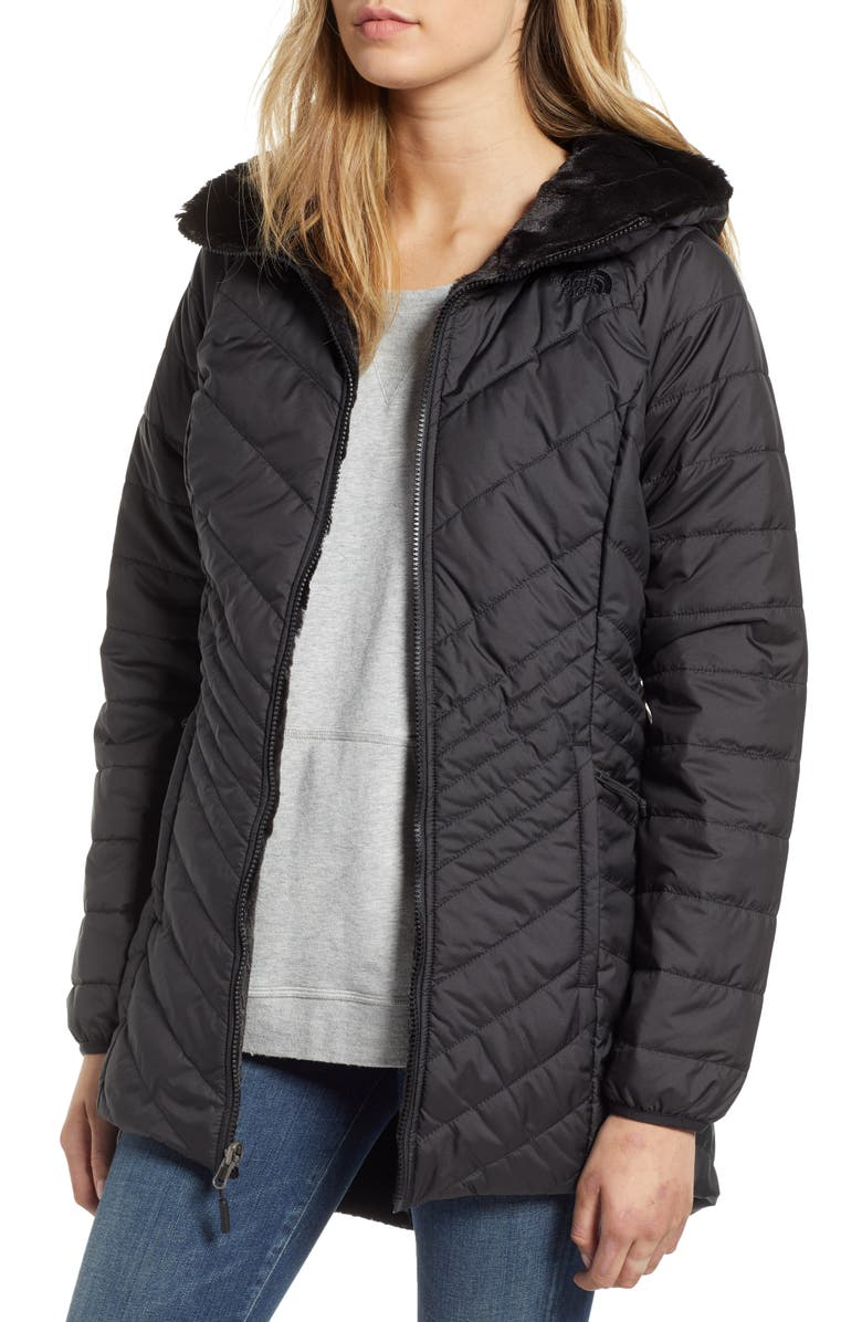 THE NORTH FACE Mossbud Reversible Insulated Parka, Main, color, TNF BLACK