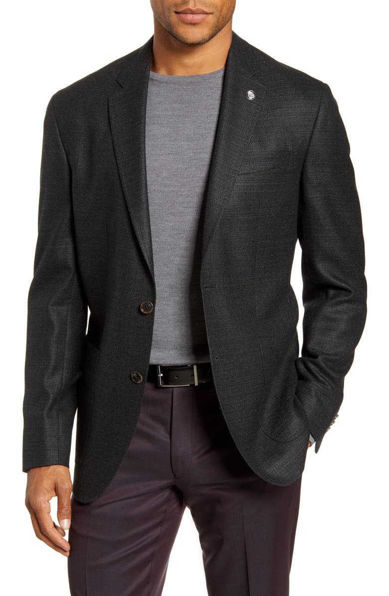 TED BAKER LONDON Kyle Trim Fit Solid Wool Sport Coat, Main, color, OLIVE