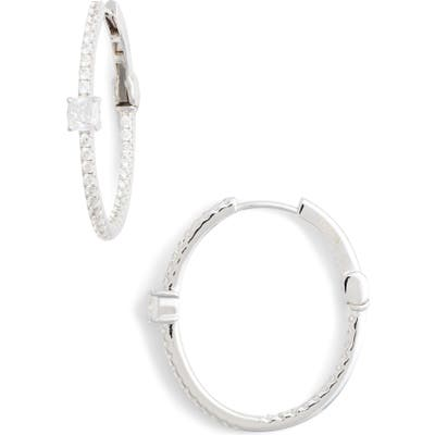 Lafonn Simulated Diamond Hoop Earrings